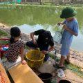 Sáng cn 3 bố con a vào chơi thế là có cá mang về cho bx a nấu canh
